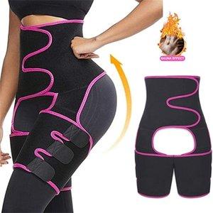 الخصر المدرب trimmer الفخذ للنساء تجريب اللياقة البدنية، عالية الخصر النيوبرين بعقب رافع ملابس داخلية حزام Y200706
