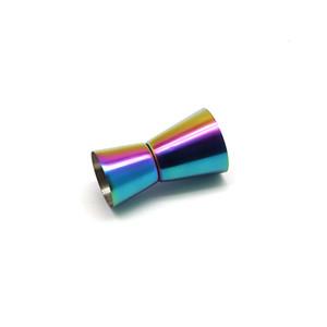 الفولاذ المقاوم للصدأ النبيذ كوب قياس 15/30 مل ml مصقول مزدوج الرأس كوب متعددة الوظائف بار أوقية شاكر كوب 4 ألوان شريط أدوات EEF4333