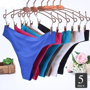 Elovegirl 5PCS Plain Triangle Female Panties Nylon Briefs Women Sexy Low Rise Briefs Women Intimate Seamless