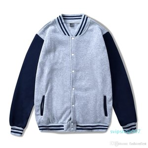Two Tone Varsity Jacket Unisex Jumper Coat Cotton Jumper Winter Essential Mens Womens College University Inspired Contrast Colours Hoodies
