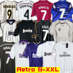 Real Madrid Retro 10 11 12 Fußball Fußball Jersey Guti Ramos McManaman 13 14 15 16 Ronaldo Zidane Beckham 06 07 Raul 99 00 redondo 98 97 96