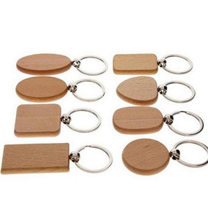Key Chains DIY Metal Wooden Keychain Heart Shape Blank Wood Key Rings Key Holders Gifts Party Favore Creative Gifts Acceroies SEA DHC4772