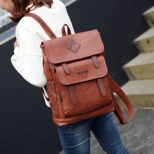 Splendid Bags New Arrival Men 39 s Retro Shoulder Leather Simple Computer Bag Large Capacity Backpack Sac 2019 A1113