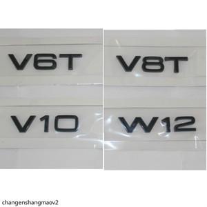 Gloss Black Letters V6 T V 8T V 10 W 12 Fender Badges Emblems Emblem for Audi A4 A4 A6 A7 A8 S3 S4 R8 RSQ5 Q5 V6T V8T V10 W12
