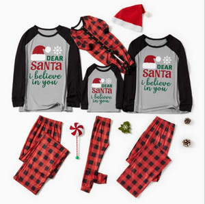 IN STOCK! 2020 New Christmas Matching Family Christmas Boys Girls Pajamas Striped Kids Sleepwear Children Clothes Christmas PJ's