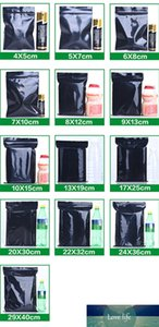 Black Plastic Bag Self Seal Reclosable Sundries Crafts Zip Lock Zipper Storage Package