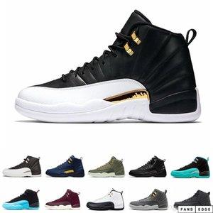 Alta calidad 2020 nuevos 12s CNY Chinese Año Nuevo Blanco Oro Men Zapatos 12 FIBA BUMBORDBEE juego Zapatillas deportivas reales