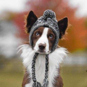 Winter Haustierhund Hut Mütze Weihnachten warm Winddicht Haustierhüte Wollhundezubehör für kleine Mittelhunde Hut Französische Bulldogge Outdoor