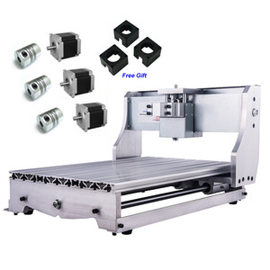 CNC 3040Z DIY Frame Kit Ball Screw Engraving Machine Table Lathe Bed with 3 pcs Stepper Motor Bracket Coupling