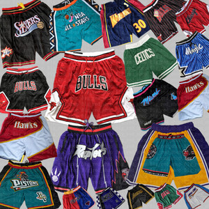 Los Chicago Angeles Bulls Toronto Basquete Raptors Shorts Apenas Orlando 76ers Magic Pantaloncini Brooklyn Grizzlies Nets Seattle Pistton