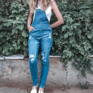 Ru Sale Fashion Women Ladies Baggy Denim Jeans Bib Full Length Pinafore Dungaree Overall Solid Loose Causal Jumpsuit Pants D25