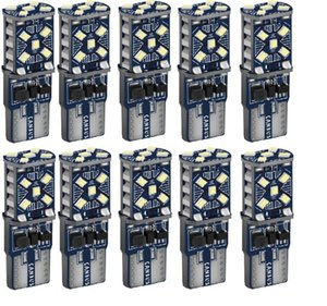 10PCS T10 W5W WY5W Super Bright LED Car Parking Lights Auto Wedge Turn Side Bulbs Car Interior Reading Dome Lamp Canbus No Error