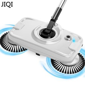 JIQI Chargable Hand-push sweeping mopping machine Sweeper mop wireless household appliances cleaner dustpan set broom artifact