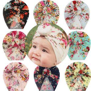 8 Colors Donut Baby Hat Newborn Elastic Cotton Beanie Cap Multi Color Infant Turban Hats Kids Florals Headband Children Accessories