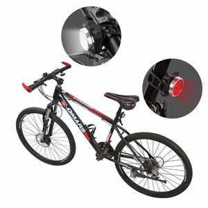 Nova recarregável levou bicicleta luzes frente e cauda definir 4 modos luzes recarregáveis luzes à noite luz de bicicleta de silicone com luz vermelha