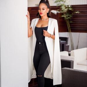 Fabbrica di vendita di Blazer Blazer a maniche lunghe bianche Cappotto Shawl Shawl Shawl Shawl Head Abbigliamento da donna