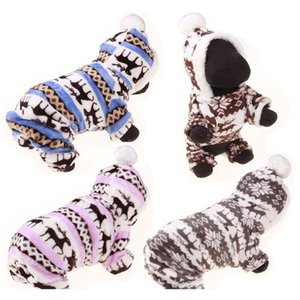 Fashion Pet Puppy Warm Clothes Winter Pet Dog Coral Fleece Clothes Small Dog Coat Hoody Reindeer Snowflake Jacket Apparel M-Xl Dbc Ymrg5