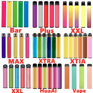 Puff Bar Plus XXL Max Bar BARS FLOW Glow Max Bang Posh XL Puff Bars Barra Dispositivo monouso Kit batteria Cartucce batteria Penna vape