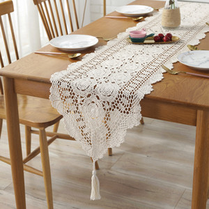 100% Baumwolle Handcraft Häkeln Tischdecken Shabby Chic Vintage Häkelnde Tisch Topper Handgemachte Sofaabdeckung Tischläufer 1Pc F1214