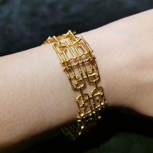 Natural White Yellow Jade Stone Bamboo Bracelet Setting 190mm long 9.2 sterling silver bracele