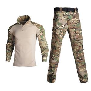 المشي لمسافات طويلة الصيد الملابس موحدة التمويه موحد التكتيكية القتالية الملابس التكتيكية ghillie البدلة في الهواء الطلق
