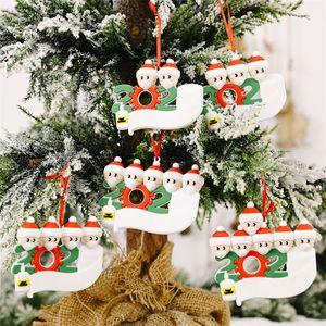 Ornament DIY Greetings Quarantine Birthday Party Pandemic Social Distancing Christmas Tree Pendant Accessories DHE1812