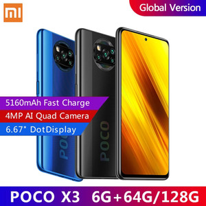Global Version Xiaomi Poco X3 NFC Smartphone 6 ГБ ОЗУ Snapdragon 732G 6.67 '' FHD dotdisplay 5160mah 64mp Quad Camera 33w