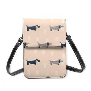 Fashion Woman Shoulder Bag Dachshund Dog Scandinavian Pattern Ladies Small Bag Wild Simple Female Daily Messenger