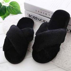 Hot Sale-Women's Slipper Fashion Casual Home Slipper Winter Non-Slip Flat Open Toe Shoes Casual House Flock Summer Shoes Women 2020