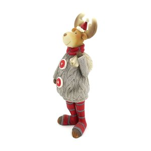 Christmas resin handmade crafts gray sweater elk Christmas home decoration furnishings holiday gifts office furnishings