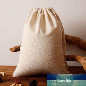 Muslin Leinen Kordelzug Bag 15x20 cm 20x30 cm 30x40 cm Nuss Nahrung Reis Aufbewahrung Sack Schmuck Geschenkbeutel