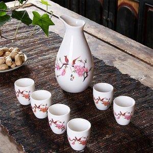 SAKE SAKE SAKE, 6 шт. Sake Set Ручная роспись дизайн фарфоровая керамика традиционные керамические чашки ремесел винные очки SQCLVE
