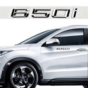 1 세트 자동차 스타일링 3D 자동 디지털 스티커 BWM 650에 대한 ABS 650 I Chrome Number Trunk BMW 650i에 대 한 엠블럼 데칼 스티커
