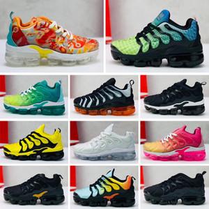 Max Vapormax Plus Geliş Zincir Reaksiyonu Günlük Ayakkabılar çocukların Siyah Beyaz Pembe Moda Eğitmenler Spor Tasarımcı çocuklar Casual Spor ayakkabılar için