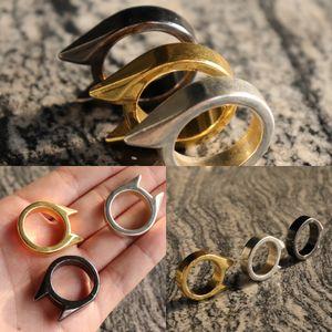 Cat Self Defense Ear Single Finger fibbia anello Window Breaker Donne Anti Lupo Uomini Outdoor Products Qe13