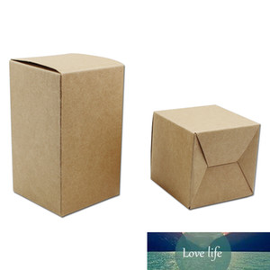 20Pcs Lot Craft Gifts Kraft Paper Wedding Party Favor Brown Packing Boxes DIY Soap Chocolate Paperboard Boutiques Package Box