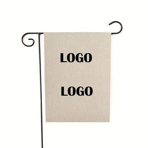 DIY Garden Flag Custom LOGO Linen 30*45CM Or 32*47CM Free DHL UPS FedEx Wholesale Factory Outlet