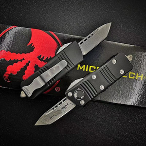 Micro Mini Combat Dragon UT85 UT121 Couteau automatique Hell Hell Hell Hound Tanto D2 Blade Selfewewing Chasse Couteau de survie BM 3300 3400 4600