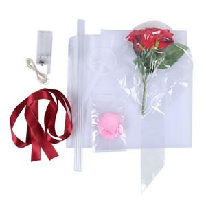LED Luminoso globo rosa ramo de rosa Transparente Bobo Bola Rosa Día de San Valentín Regalo Fiesta de cumpleaños Decoración de la boda Globos EEE3530