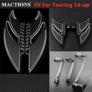 Motorcycle Front Rear Floorboards Footpegs+Brake Arm Kit+Shift Lever & Shift Pegs For Touring 2014-2019 20 Road King FLHR1