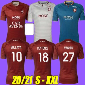 Tailandia 20 21 FC Metz Soccer Jerseys Away 2020 2021 Boulaya Diallo Centonze Bronn Vagner Niane Fofana Vagner Home 3ra Football Shirt