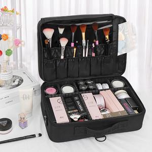Portable, large capacity, professional makeup artist cosmetics collection kit for beautiful eyelash manicure tattoo