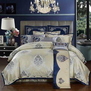 Egyptian Cotton Bedding Set 4pc Embroidered Duvet Cover Set Flat Sheet Bed Quilt Linen King Queen Sizelanessna