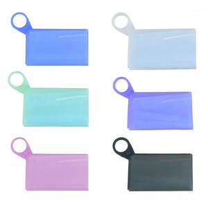 Silicone 1pcs Disposable Bags Storage Face Recycling Dustproof Holder1 Masks Storage Bags Container Foldable Clip Mask Agxho