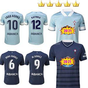 2020 2021 Celta Vigo Soccer Jerseys Startseite Iago Aspas Kinder Rafinha Gomez Sisto Hugo Malllo Camiseta de Futbol Kits 20 21 Football Hemden