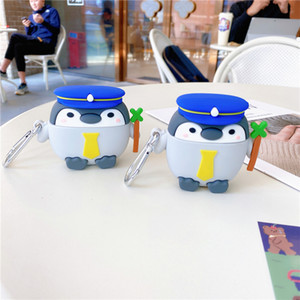 For AirPods 1 2 Case Cute Cartoon Navy Penguins Earphone Case For Apple Airpods Pro 3 Soft Silicone Protective Cover Funda
