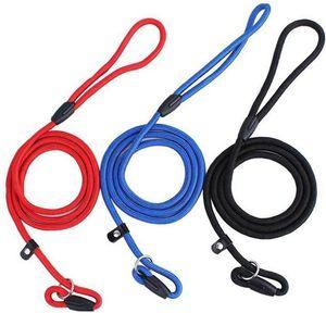 ПЭТ собака нейлоновая веревка тренировка поводка скольжения свинцовый ремешок регулируемый тяговый воротник домашних животных веревки поставки аксессуары