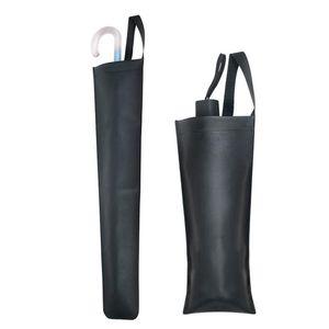 1PC PU Imitation Leather Umbrella Bag Waterproof Folding Accommodate Umbrella Car Case Closure Portable Pouch