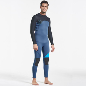 Factory Direct Selling Hot Sale 3mm Men'S Full Body Winter Wetsuit Wetsuit Rubber Fleece Lining Snorkeling Surfing Triathlon Swimsuit