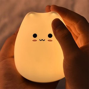 2020 New Led Night Lamp Decorate Desk Light Dream Cute Cat Holiday Creative Sleepping Bulb For Baby Bedroom Luminar